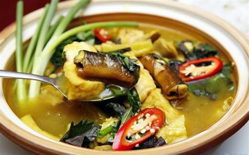 cách nấu cá chạch om chuối 1