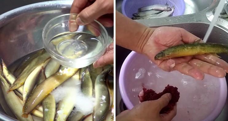 cách nấu cá chạch om chuối 3