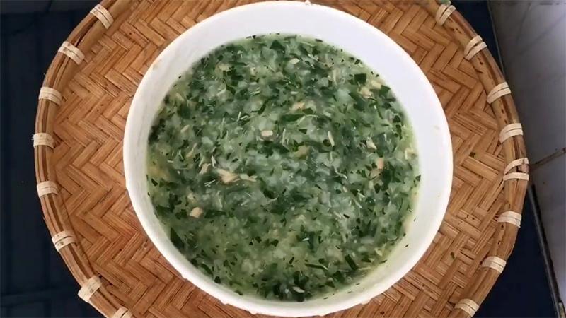 cháo cá chạch nấu rau ngót 2