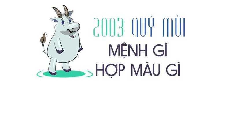 2003 mệnh gì 1