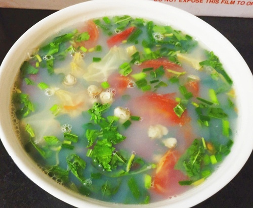 Cách làm canh hến nấu chua 4