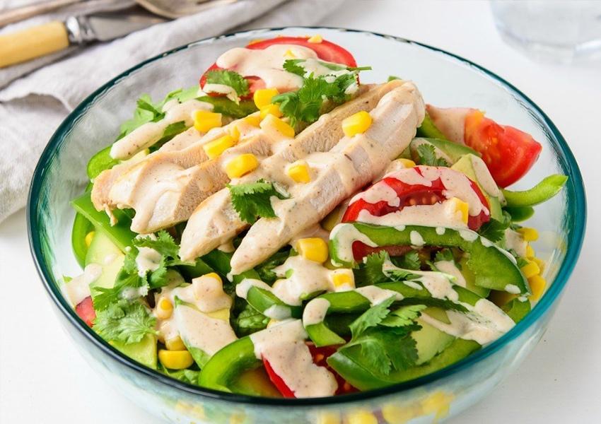 salad ức gà áp chảo 3