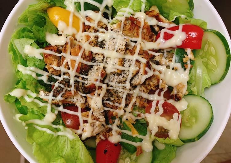 salad ức gà áp chảo 4