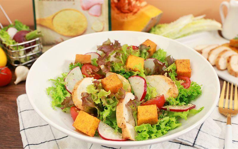salad ức gà dầu giấm 2