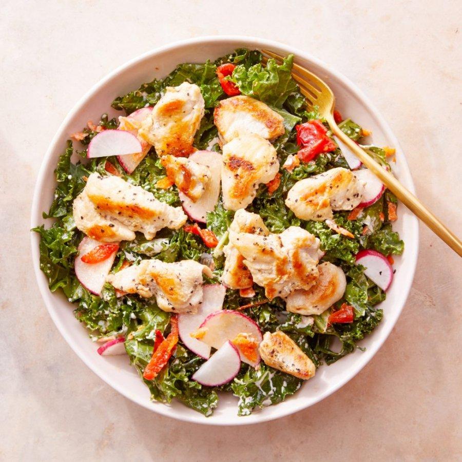 salad ức gà dầu giấm 4