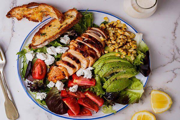 salad ức gà sốt mè rang 3