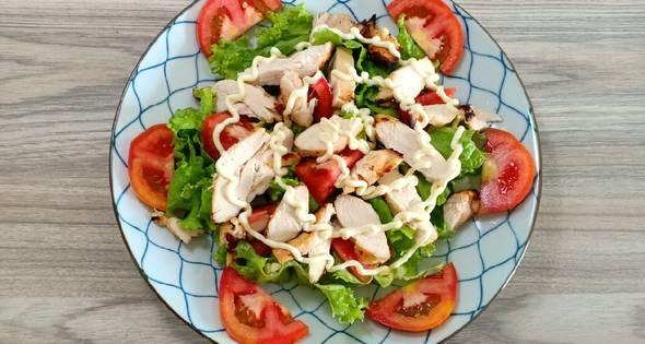 salad ức gà sốt mè rang 4