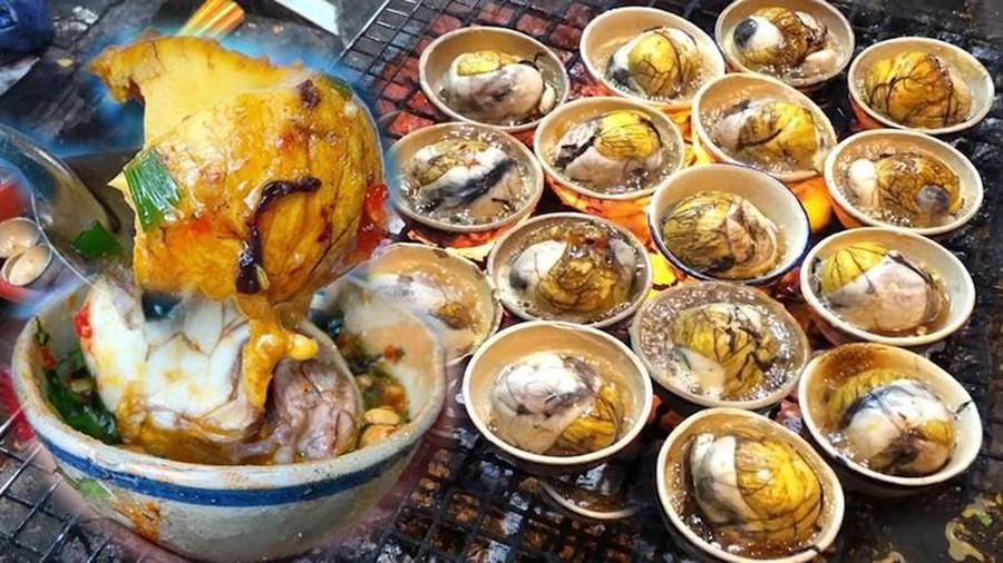 trứng vịt lộn nướng 3