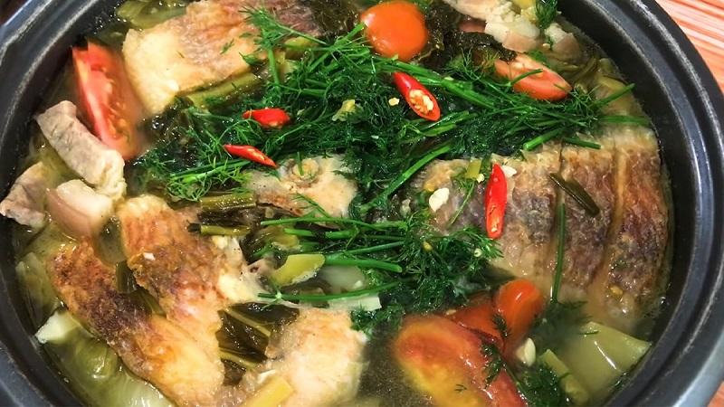 Chế biến cá diêu hồng nấu dưa chua thân thuộc và đưa cơm 1