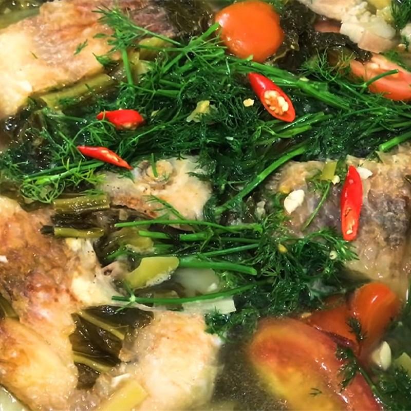 Chế biến cá diêu hồng nấu dưa chua thân thuộc và đưa cơm 10