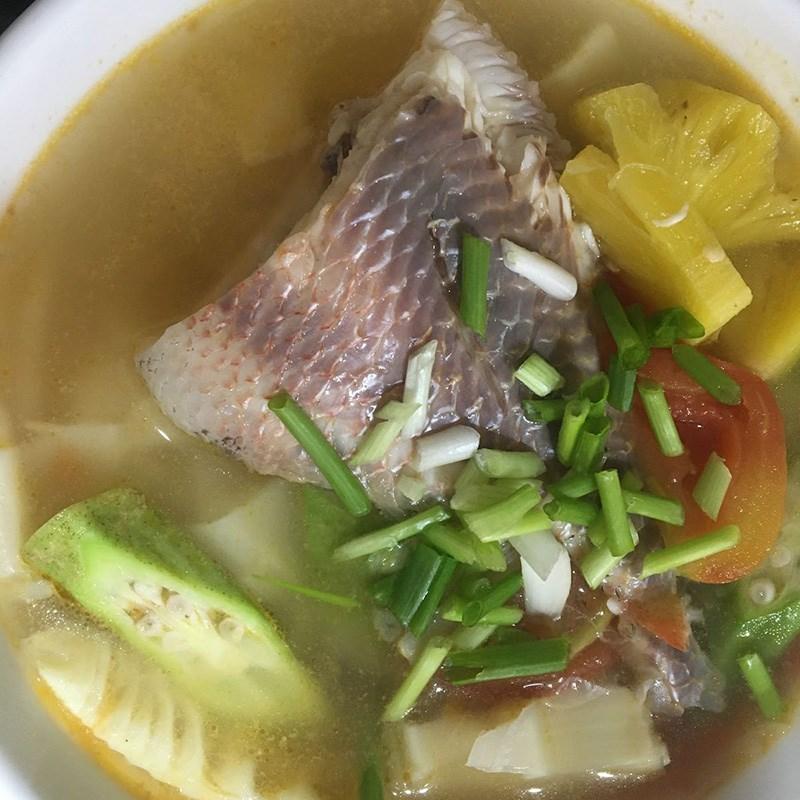 Cá diêu hồng nấu măng chua nóng hổi vừa thổi vừa ăn 9