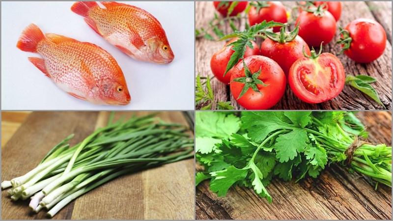 Nguyên liệu cần có cho món cá diêu hồng sốt cà chua