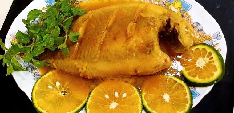 Cá diêu hồng sốt cam hương vị lạ miệng 1
