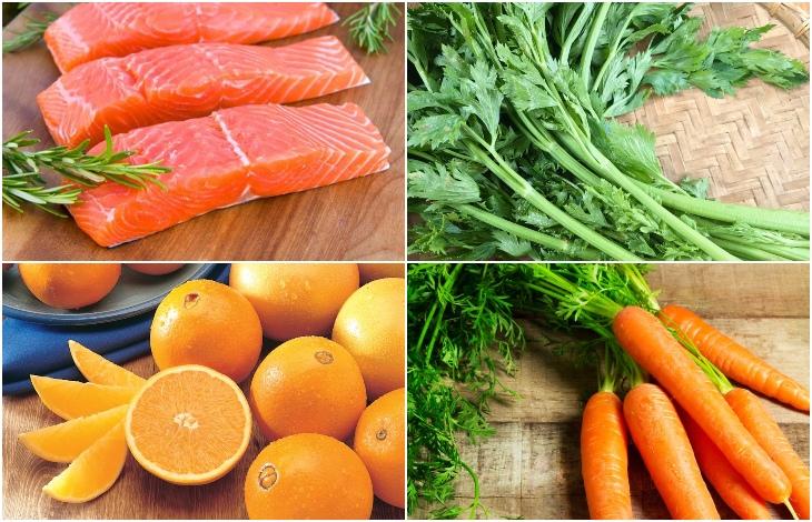 cá hồi áp chảo sốt cam cà rốt 1