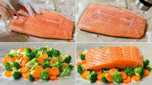 Cá hồi nướng giấy bạc đơn giản mà thơm ngon và giàu dưỡng chất 3