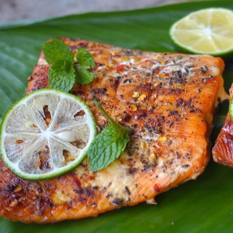 cá hồi nướng muối ớt 6