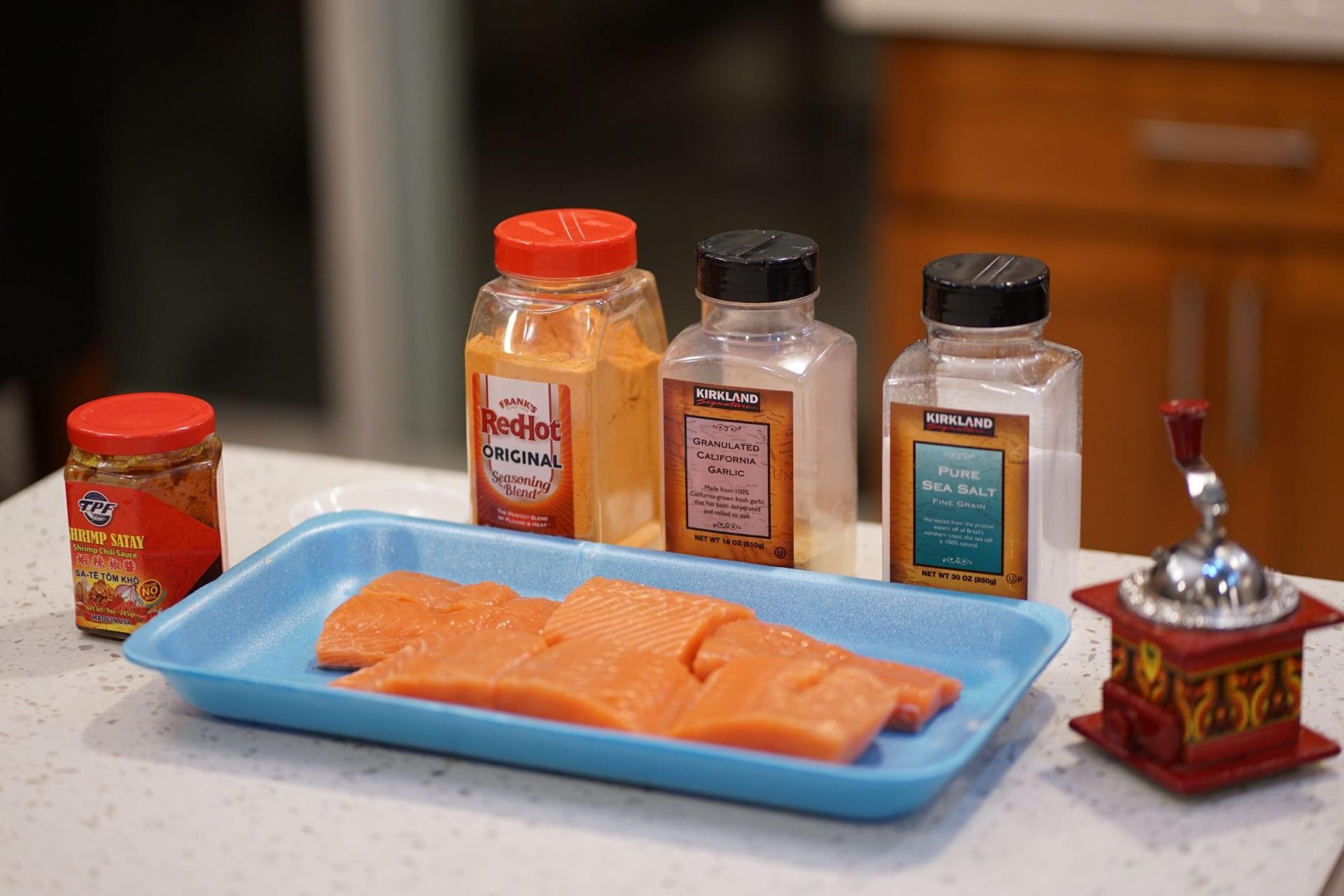 Cá hồi nướng sa tế 2