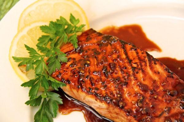 Cá hồi nướng xì dầu 6