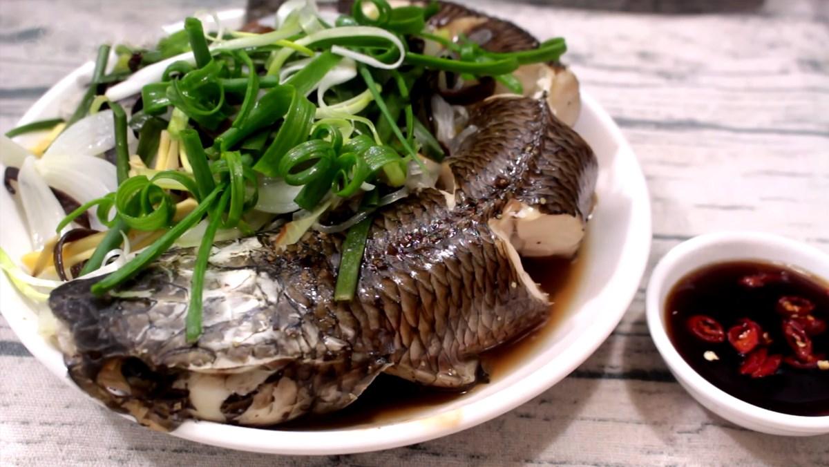 cá lóc hấp cuốn bánh tráng 1