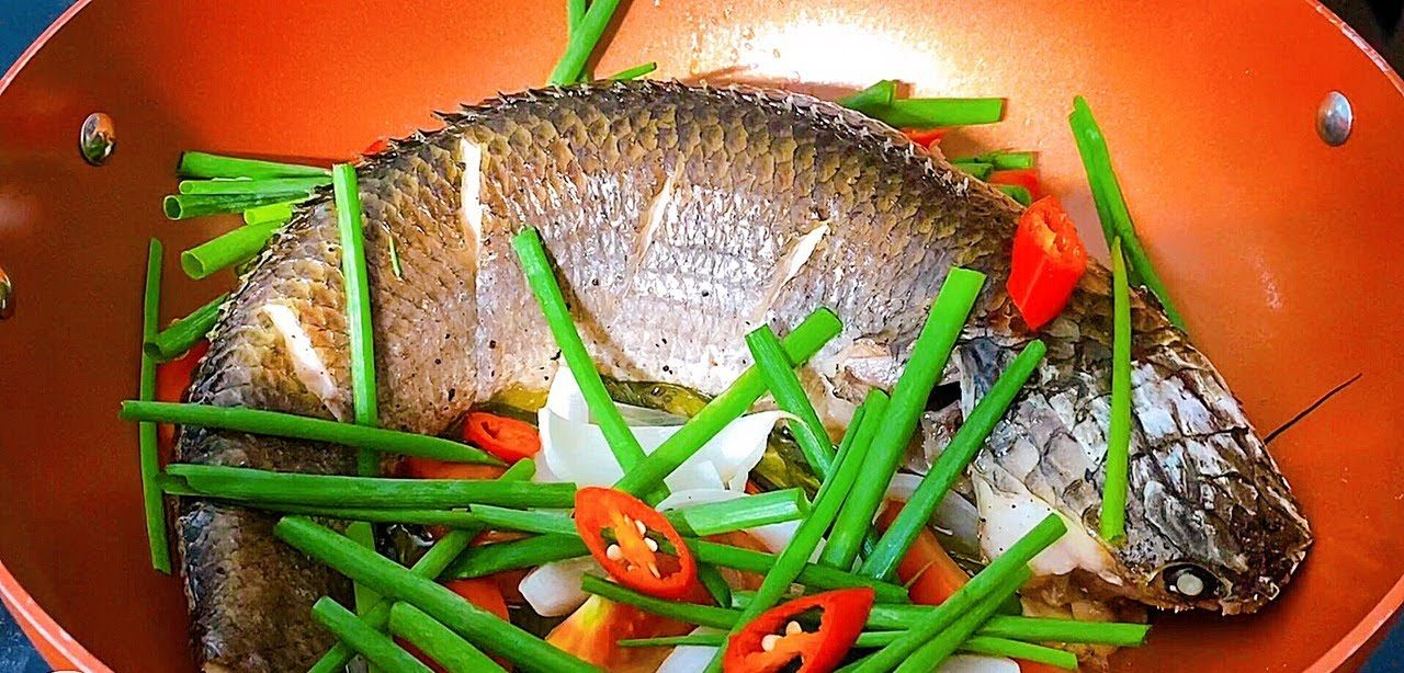 cá lóc hấp hành 3