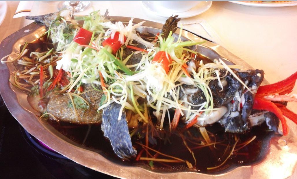 cá quả hấp xì dầu 1