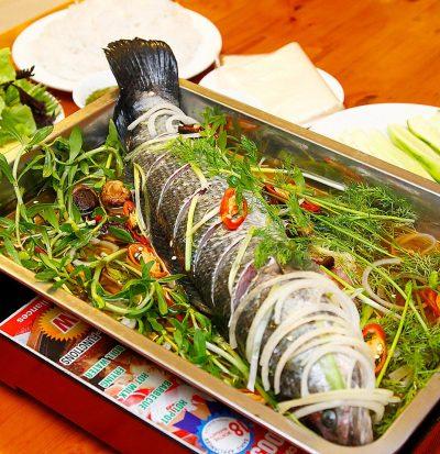 cá quả hấp xì dầu 4