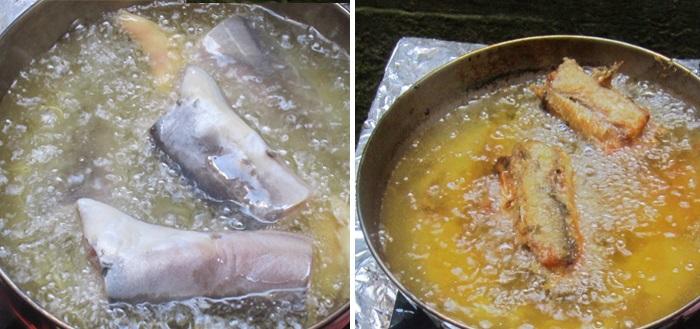Cách làm cá trê kho chuối 3