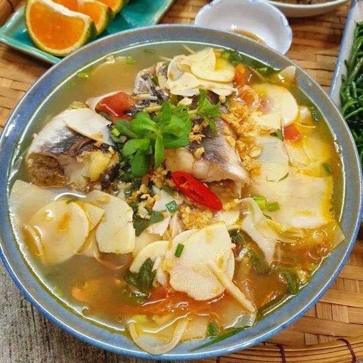 cách làm cá trê nấu canh chua 4