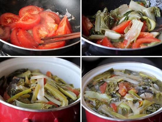 cách làm đầu cá hồi nấu dưa chua 3