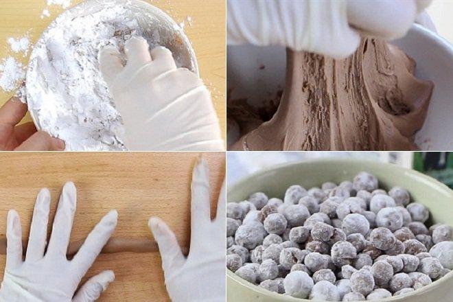 cách làm trân châu milo với bột năng 1