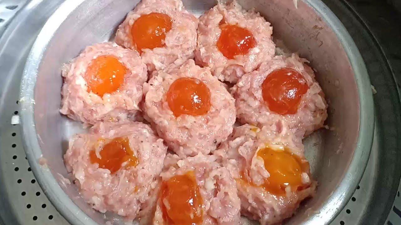 Cách làm xíu mại trứng muối 2