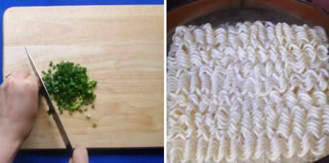 cách làm xúc xích phô mai với mì ramen 3