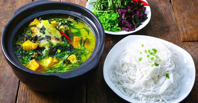 Cách nấu cá trê om chuối đậu 1
