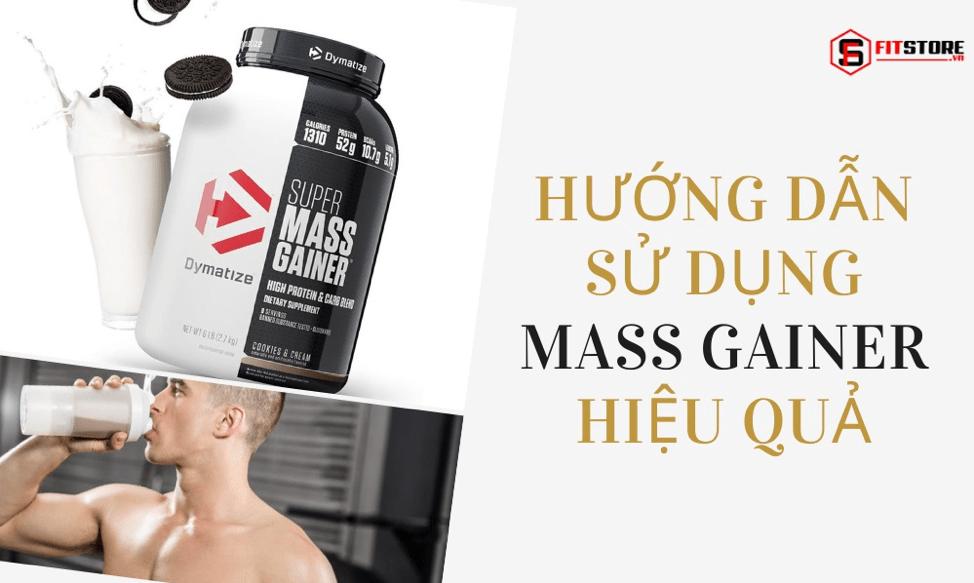 Cách sử dụng sữa tăng cân Mass Gainer hiệu quả cho người gầy 1