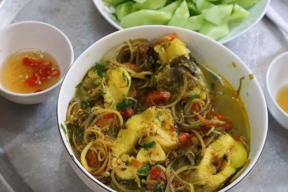 Cách làm hoa chuối nấu cá lóc 6