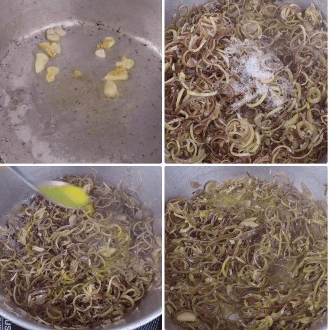 chế biến hoa chuối nấu mẻ