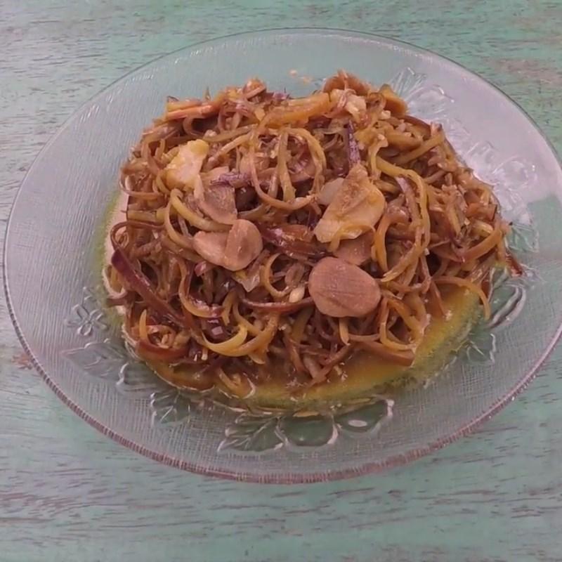 Món ăn hoa chuối nấu mẻ