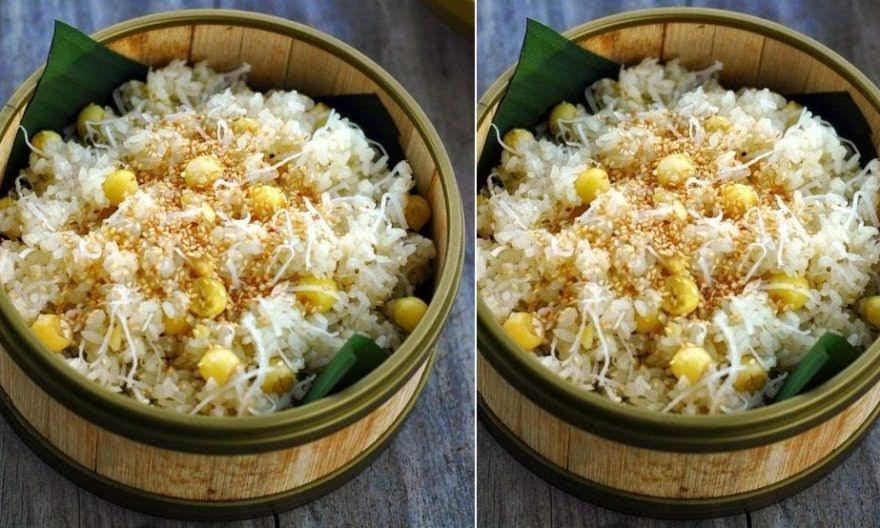 xôi dừa trộn hạt sen 1