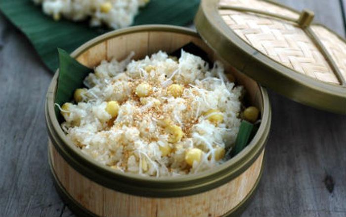 xôi dừa trộn hạt sen 3