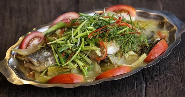 cá lóc hấp dưa cải 1