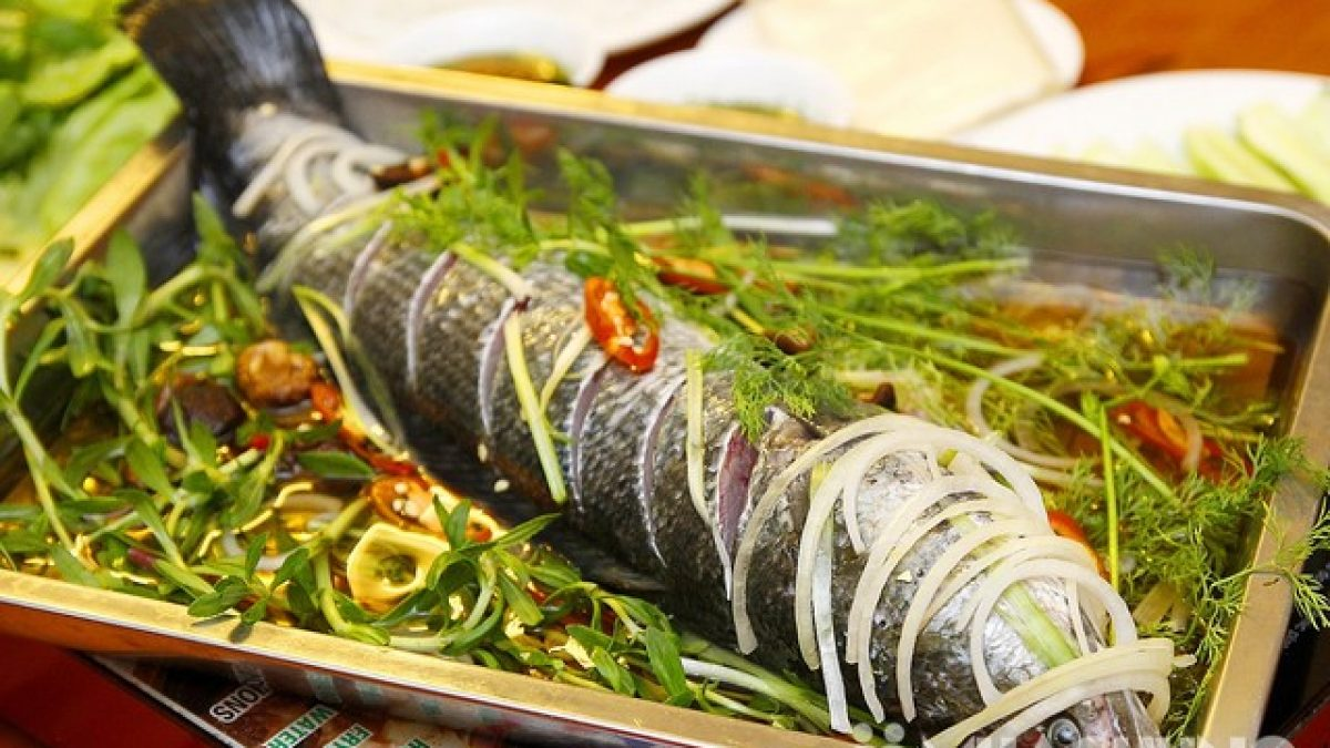 cá lóc hấp dưa cải 3