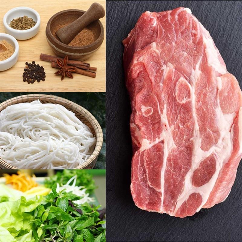 cách làm bún xào thịt ngũ vị hương 1