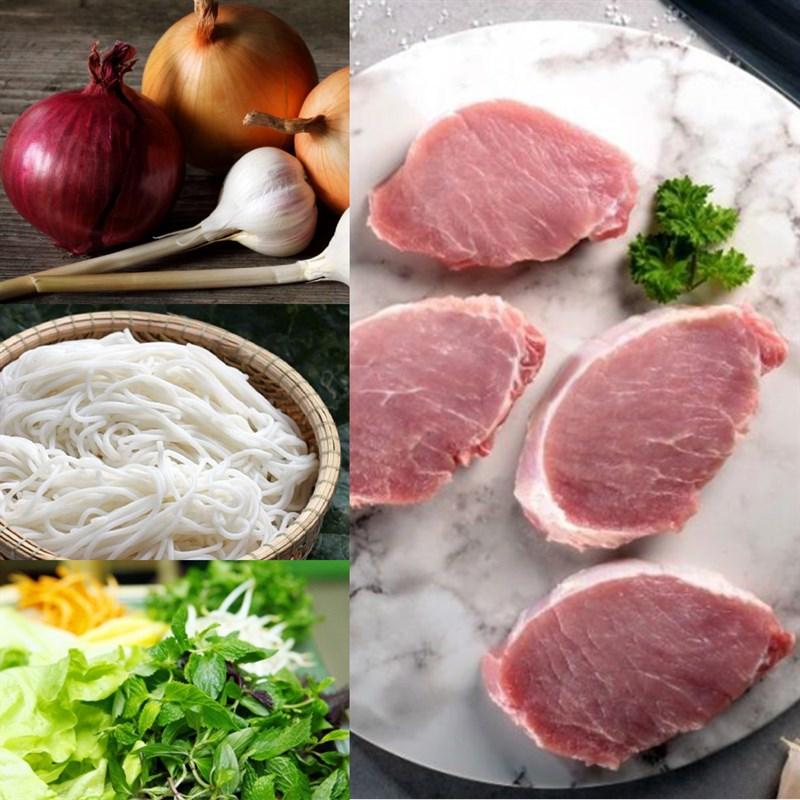 cách làm bún xào thịt hành tây 1