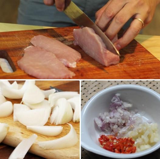 cách làm bún xào thịt hành tây 2