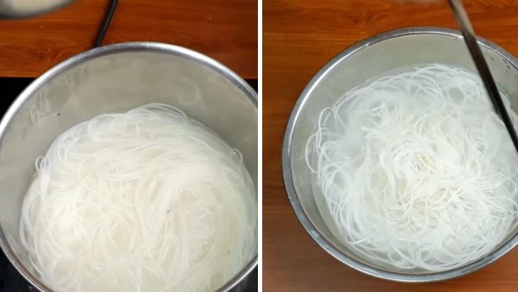 cách làm bún xào trứng 5