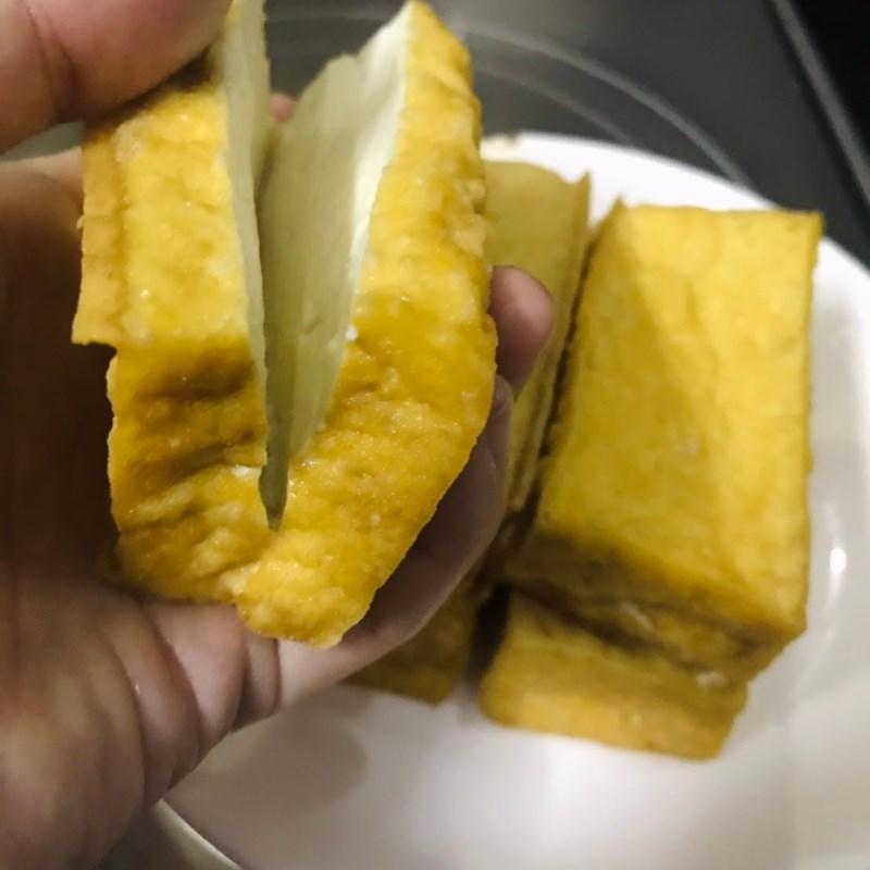 Cách làm đậu hũ nhồi thịt 4