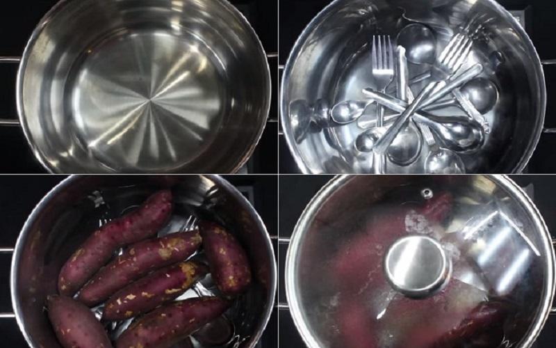cách làm khoai lang tím luộc 2
