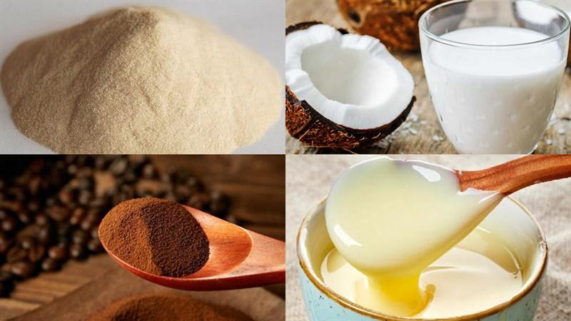 cách làm rau câu dừa cà phê 1