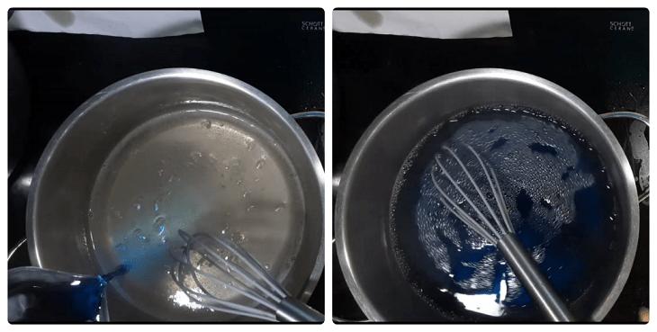 cách làm rau câu hoa đậu biếc với bột agar giòn 2