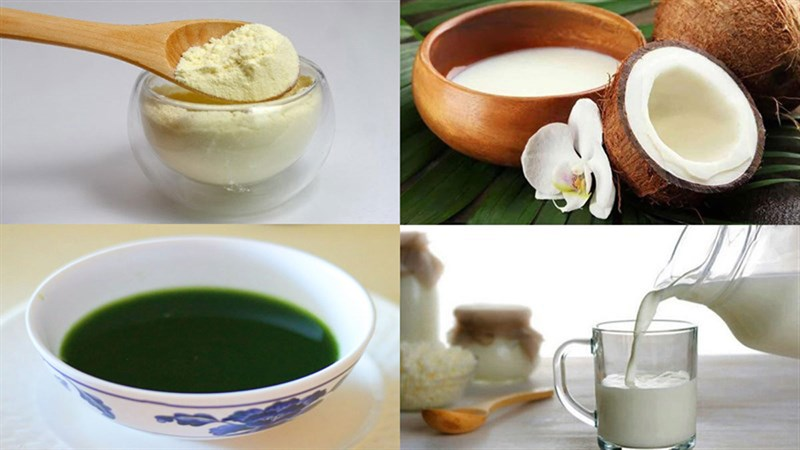 cách làm rau câu nước cốt dừa thạch lá dứa 1